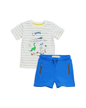Sovereign Code Boys' Striped Graphic Tee & Ribbed Shorts Set - Baby