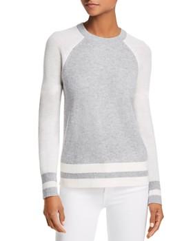 AQUA - Color-Block Raglan Cashmere Sweater - 100% Exclusive