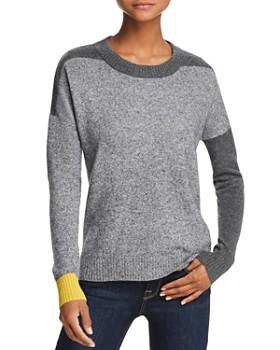 AQUA - Color-Block Cashmere Sweater - 100% Exclusive