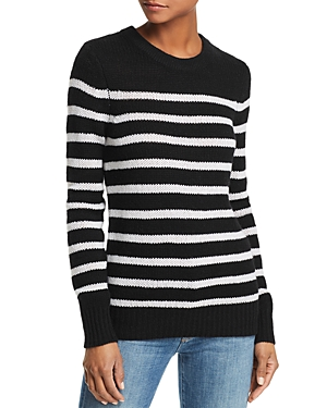 Aqua Cashmere Striped Cashmere Sweater - 100% Exclusive