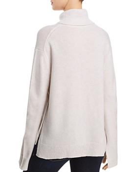 AQUA - Seamed Cashmere Turtleneck Sweater - 100% Exclusive