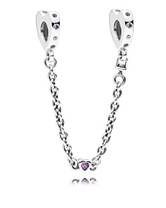 PANDORA Sterling Silver & Cubic Zirconia Bright Hearts Safety Chain - Bloomingdale's_0