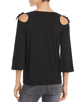 Design History - Cutout Tie-Shoulder Top