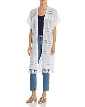 Lyssé - Sabra Crochet Long Open Cardigan