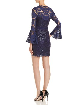 Tadashi Petites - Bell-Sleeve Lace Dress - 100% Exclusive