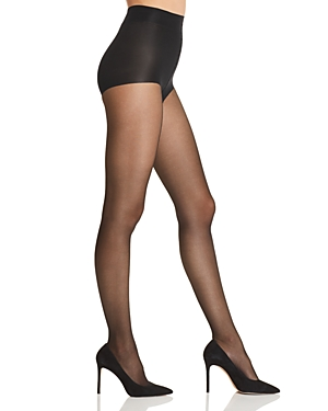 41b32e6684930 Natori Shimmer Sheer Control-Top Tights In Black | ModeSens