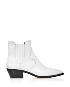 Rebecca Minkoff - Women's Kaidienne Pointed Toe Leather Low-Heel Booties - 100% Exclusive