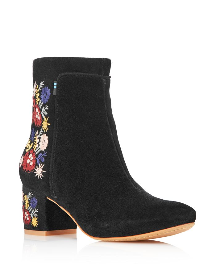 20173f7725a Women's Evie Embroidered Suede Booties - 100% Exclusive