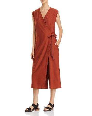 Eileen Fisher Petites Wrap-Front Jumpsuit