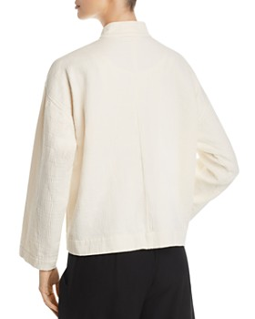 Eileen Fisher Petites - Textured Organic-Cotton Jacket