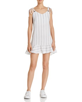 Rails - Diana Ruffle-Hem Striped Dress