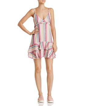 Rails - Martina Ruffled Striped Dress