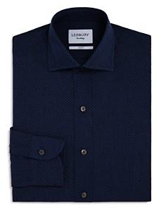 Ledbury - Micro Print Slim Fit Dress Shirt