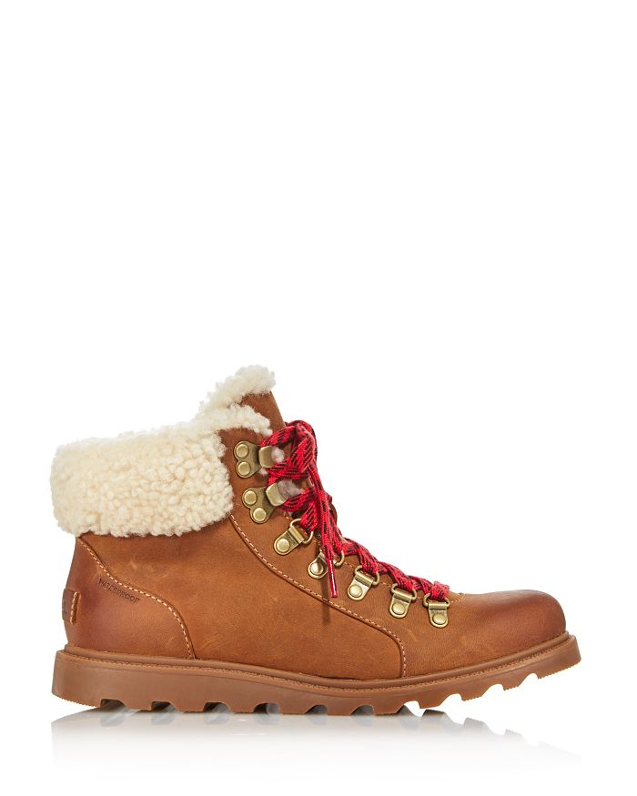 4d06e7618b5 Sorel - Women s Ainsley Round Toe Leather Hiking Boots - 100% Exclusive