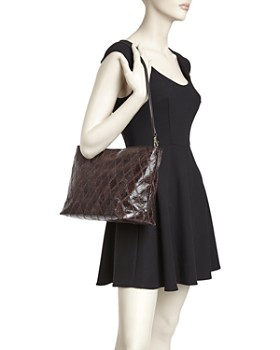 Elizabeth and James - Large Patchwork Leather Pouch Shoulder Bag