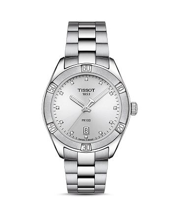 Tissot - PR100 Diamond Watch, 36mm