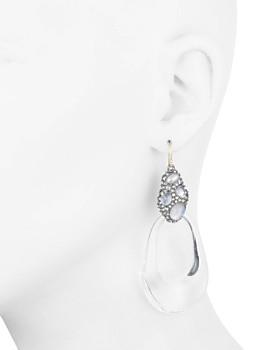 Alexis Bittar - Crystal Cluster Loop Drop Earrings