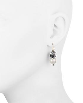 Alexis Bittar - Skull & Simulated Pearl Drop Earrings