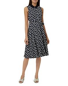 HOBBS LONDON - Belinda Polka Dot Shirt Dress