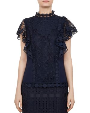 GABBBY MIXED-LACE TOP from Bloomingdale's