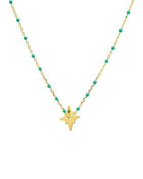 "Argento Vivo - North Star Enamel-Detail Necklace, 14"""