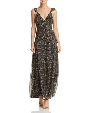 SADIE & SAGE DITSY PRINTED CUTOUT MAXI DRESS