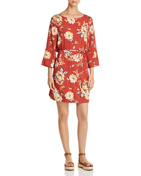 BeachLunchLounge - Belted Floral-Print Dress