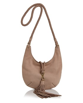 43965e5c7c0 HALSTON HERITAGE - Elsa Small Nubuck Leather Hobo Crossbody ...