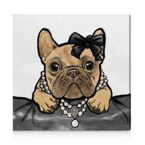 Oliver Gal Glam Frenchie Wall Art, 20 x 20