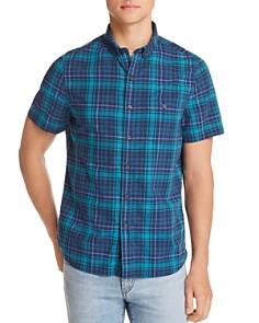 Michael Bastian - Plaid Short-Sleeve Regular Fit Button-Down Shirt