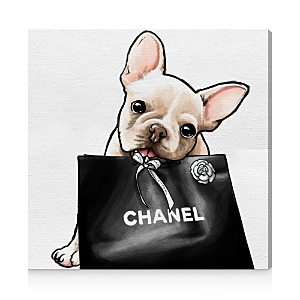 Oliver Gal Frenchie Glam Canvas Art, 12 x 12