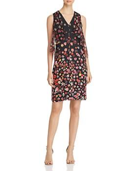 Elie Tahari - Jezeble Ruffled Floral Print Silk Dress