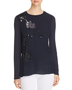 Elie Tahari Jayln Sequined Top