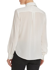 FRAME - True Bow Detail Silk Blouse