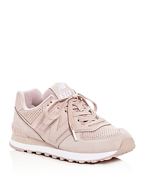 b102b82cbfaa ... coupon code for new balance womens 574 nubuck leather lace up sneakers  au lait beige 99a29