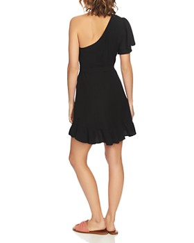 1.STATE - One-Shoulder Ruffled Dress