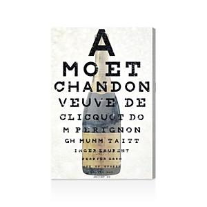 Oliver Gal Champagne Eye Chart Canvas Art, 24 x 36