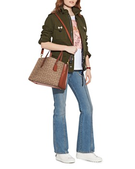 COACH - Signature Charlie Coated Canvas Shoulder Bag