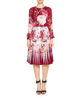 $Ted Baker Esperan Serenity Pleated Dress - Bloomingdale's