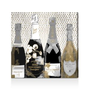 Oliver Gal Pass the Bottle Night Canvas Art, 24 x 24