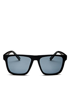 Le Specs - Men's The Boss Polarized Flat Top Square Sunglasses, 56mm