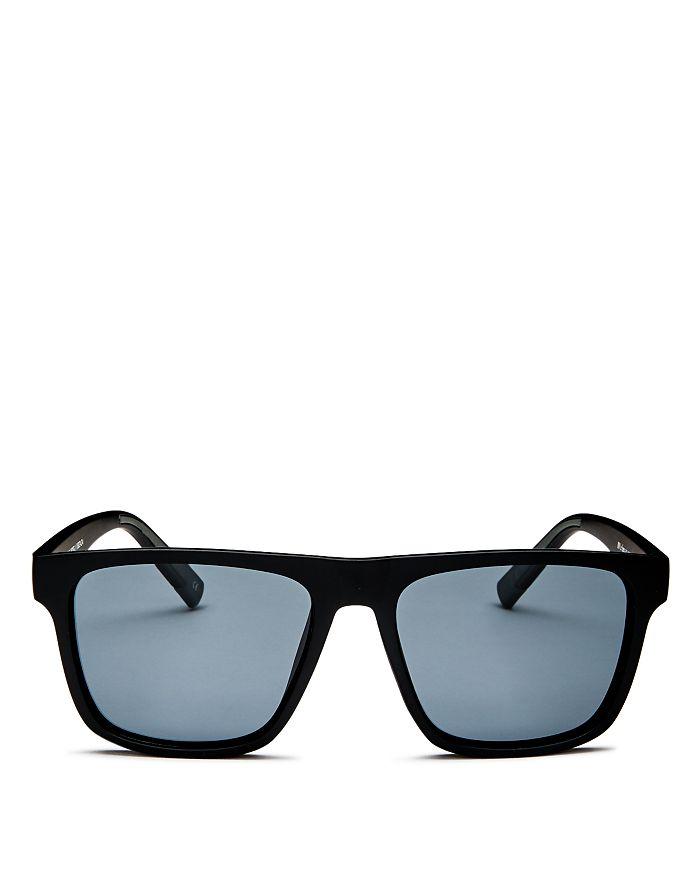 Le Specs - Men's The Boss Polarized Flat Top Square Sunglasses, 56mm