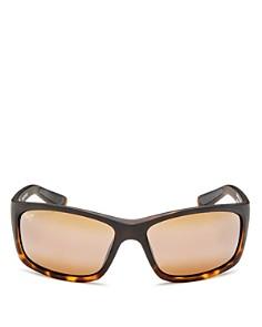 Maui Jim - Men's Kanaio Coast Mirrored Wraparound Square Sunglasses, 61mm