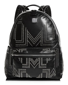 MCM - Rebel Tumbler Medium Studded Leather Backpack