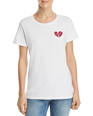 French Connection Floral-Heart Graphic Tee