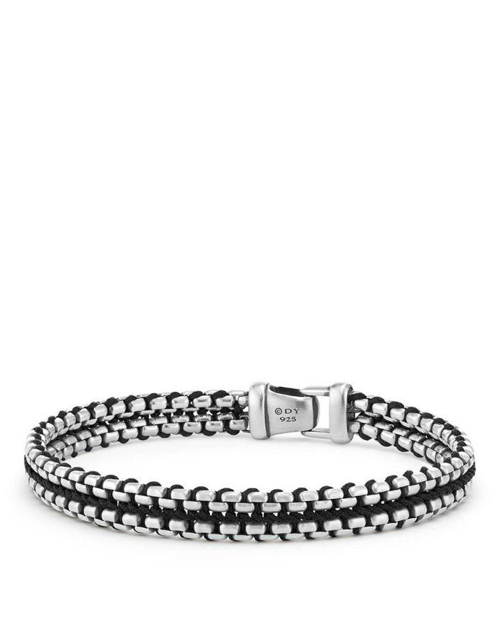 David Yurman Woven Box Chain Bracelet in Black   | Bloomingdale's