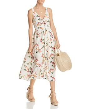 Lost and Wander - Regina Floral-Print Midi Dress