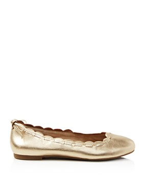 Jack Rogers - Women's Lucie Scalloped Leather Ballet Flats