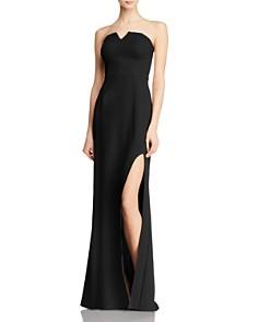 AQUA - Crepe Bustier Gown - 100% Exclusive