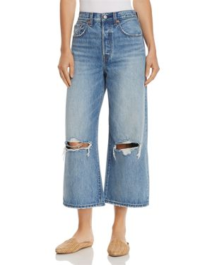 Levi's High Water Wide Leg Jeans in Straight Up